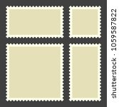 blank postage stamps. set on... | Shutterstock .eps vector #1059587822
