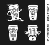 coffee to go emblems set. take... | Shutterstock .eps vector #1059590045