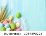 happy easter  colorful of... | Shutterstock . vector #1059590225