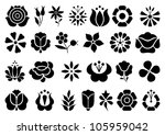floral ornament | Shutterstock .eps vector #105959042