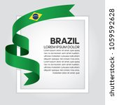 brazil flag background | Shutterstock .eps vector #1059592628