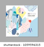 creative art card with... | Shutterstock .eps vector #1059596315