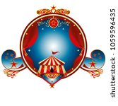 a circus gold label for your... | Shutterstock .eps vector #1059596435