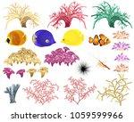 corals and underwater fauna  ...   Shutterstock .eps vector #1059599966