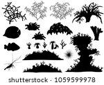 corals and underwater fauna  ... | Shutterstock .eps vector #1059599978