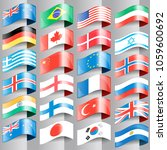 flags of european nations. | Shutterstock .eps vector #1059600692