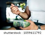 people eating healthy food | Shutterstock . vector #1059611792