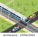 isometric low poly train... | Shutterstock .eps vector #1059612065