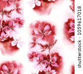 sakura blossom mix repeat...   Shutterstock . vector #1059617018