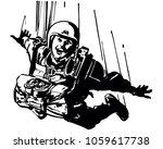 skydiver   retro clip art... | Shutterstock .eps vector #1059617738