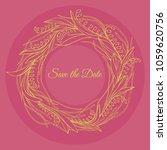 handdrawn wreath made in vector.... | Shutterstock .eps vector #1059620756