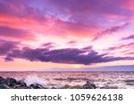 fiery backdrop sunset over... | Shutterstock . vector #1059626138