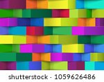 abstract 3d colorful geometric... | Shutterstock .eps vector #1059626486