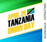 tanzania union day  april 26... | Shutterstock .eps vector #1059627482