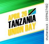 tanzania union day  april 26... | Shutterstock .eps vector #1059627482