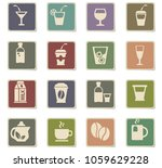 drinks web icons for user... | Shutterstock .eps vector #1059629228
