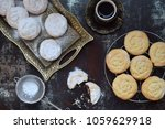 sesame shortbread with date... | Shutterstock . vector #1059629918