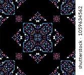 decorative hand drawn seamless... | Shutterstock .eps vector #1059634562