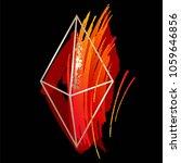 red and orange brush strokes ...   Shutterstock .eps vector #1059646856