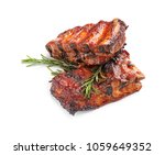delicious grilled ribs on white ... | Shutterstock . vector #1059649352