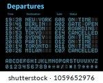 departures and arrivals airport ... | Shutterstock .eps vector #1059652976