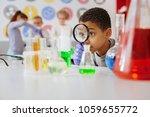 helpful tool. upbeat teenage... | Shutterstock . vector #1059655772