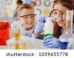 thorough examination. upbeat... | Shutterstock . vector #1059655778