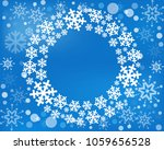 snowflake  wreath isolated.... | Shutterstock . vector #1059656528