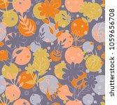 vector floral pattern in doodle ...   Shutterstock .eps vector #1059656708