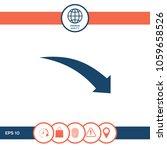 arrow down icon   Shutterstock .eps vector #1059658526