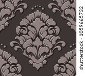 vector volumetric damask... | Shutterstock .eps vector #1059665732