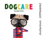dog care concept design  pet... | Shutterstock .eps vector #1059666062
