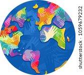illustration of hands in... | Shutterstock .eps vector #1059679232