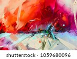 abstract colorful oil painting... | Shutterstock . vector #1059680096