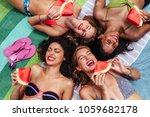 beautiful young women in... | Shutterstock . vector #1059682178