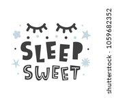 sleep sweet. scandinavian style ... | Shutterstock .eps vector #1059682352