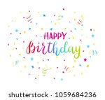 colorful text happy birthday... | Shutterstock .eps vector #1059684236