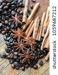 Coffee Beans  Anise Stars And...