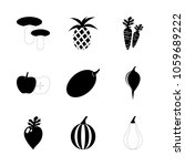 icon fruits and vegetables with ... | Shutterstock .eps vector #1059689222