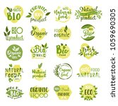 set of farm food logo  natural... | Shutterstock .eps vector #1059690305