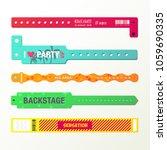 plastic event access bracelets  ... | Shutterstock .eps vector #1059690335