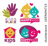 kids place with entertainments... | Shutterstock .eps vector #1059694715