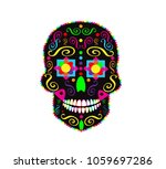 skull icon abstract colorful...   Shutterstock .eps vector #1059697286