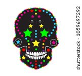 skull icon abstract colorful...   Shutterstock .eps vector #1059697292
