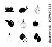 icon fruits and vegetables with ... | Shutterstock .eps vector #1059697538