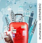 go travel concept. vector... | Shutterstock .eps vector #1059698342