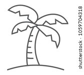 palm tree thin line icon ... | Shutterstock .eps vector #1059704318