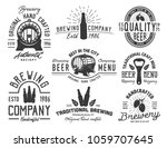 set beer emblems with different ... | Shutterstock .eps vector #1059707645
