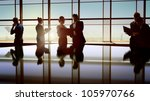 team of successful business... | Shutterstock . vector #105970766