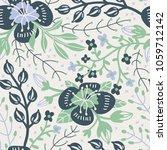 vector floral seamless pattern... | Shutterstock .eps vector #1059712142